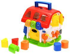 Mikro hračky Domeček vkládačka 19 cm edukační na baterie se světlem a zvukem