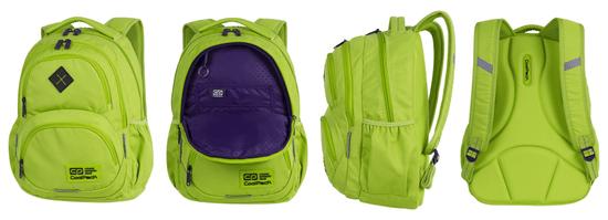 CoolPack Školní batoh Dart XL lemon/violet
