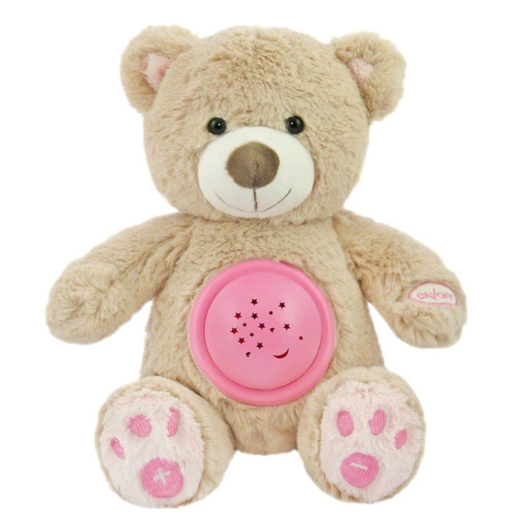 Baby Mix Plyšový medvídek s projektorem Baby Mix růžový