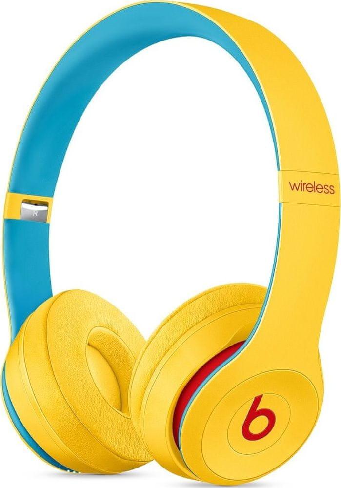 Beats Solo3 Wireless bezdrátová sluchátka, žlutá/modrá