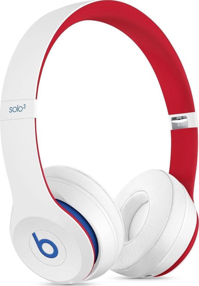 Beats Solo3 Wireless bezdrátová sluchátka, bílá/červená