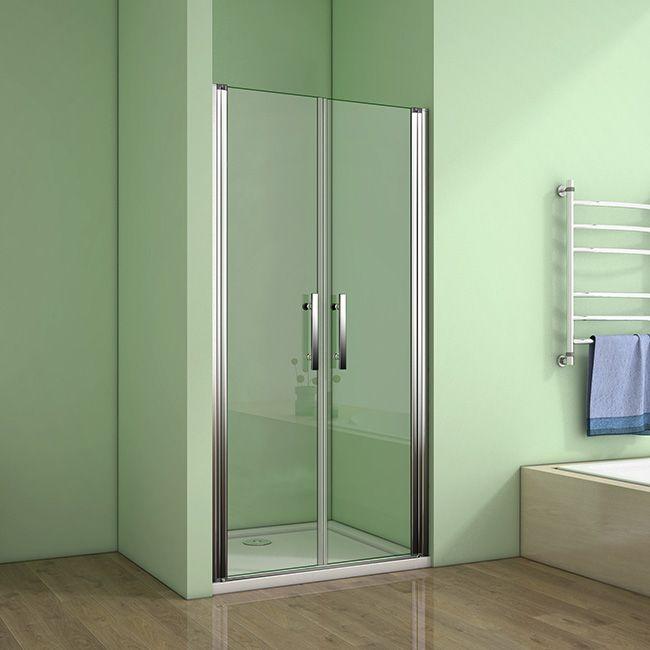 H K Sprchové dveře MELODY D2 120 dvoukřídlé 116 x 120 cm, čiré sklo