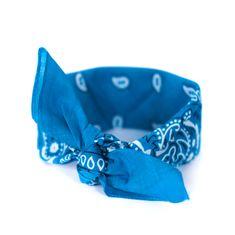 Art of Polo Šátek do vlasů pin-up světle modrý