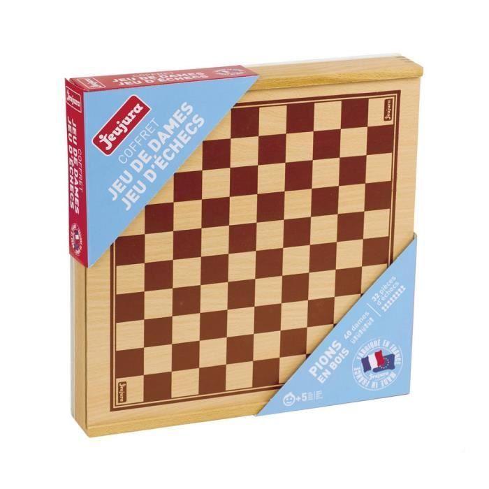 Cdiscount Šachy a dáma v dřevěné krabici