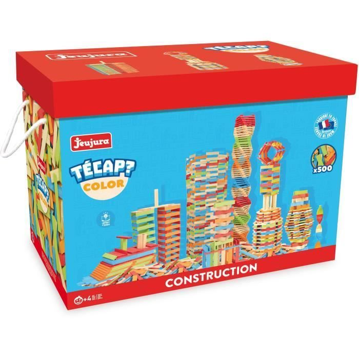 Jeujura stavebnice Tecap Color 500 dílků
