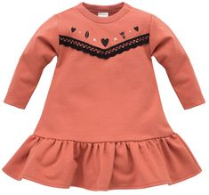 PINOKIO dievčenské šaty Little Bird, 62, oranžové