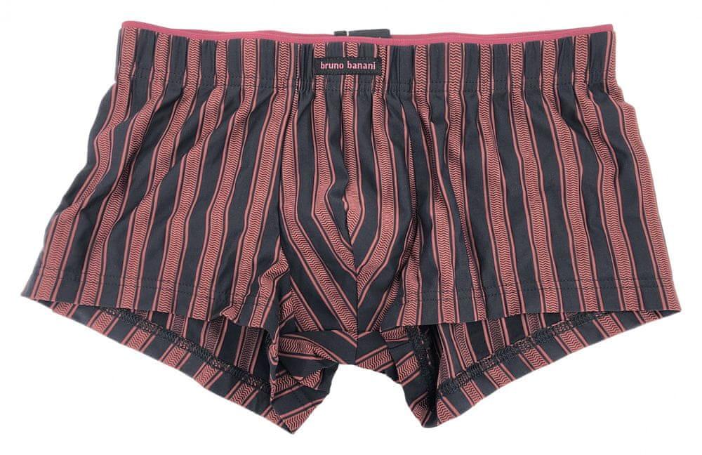 Bruno Banani Pánské boxerky 2202-6750 černo-bordó - Bruno Banani bordo-černá S