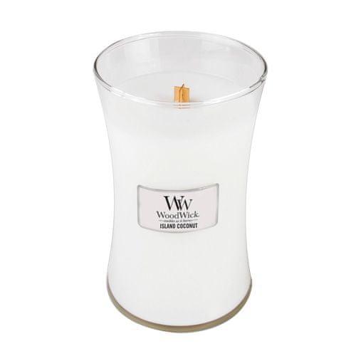 Woodwick Svíčka oválná váza WoodWick, Kokosový ostrov, 609.5 g