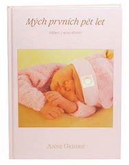 Anne Geddes Kniha Mých Prvních Pět Let, růžová holka CZ