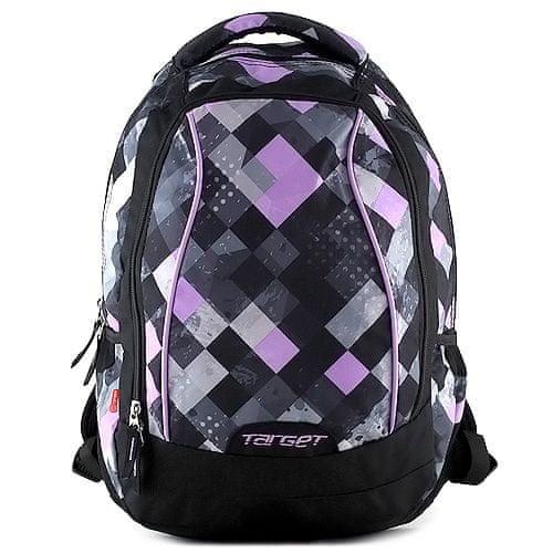 Target Študentski nahrbtnik , vijolične kocke