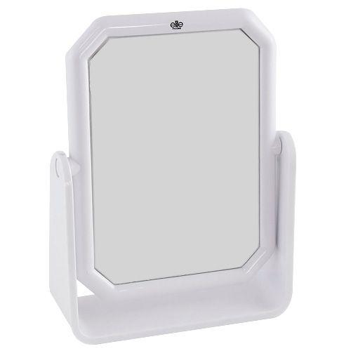 Elite Models Kosmetické zrcadlo , hranaté, 13x17cm, bílé