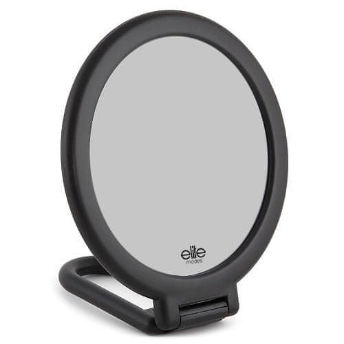 Elite Models Kosmetické zrcadlo , s flexibilní rukojetí, 14cm, černé