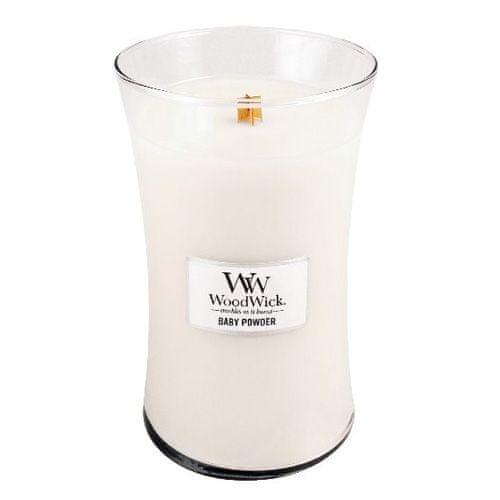 Woodwick Svíčka oválná váza WoodWick, Dětský pudr, 609.5 g