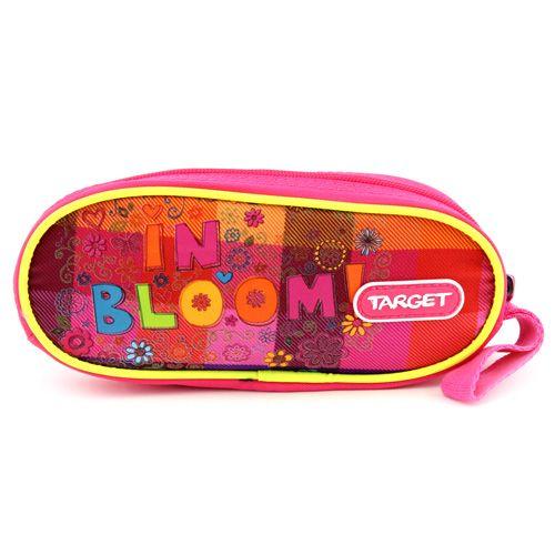 Target Docelowy piórnik szkolny, In Bloom !, prosty, różowy