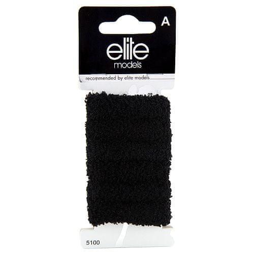 Elite Models Gumičky do vlasů 6ks , 6ks, černé, průměr 5cm