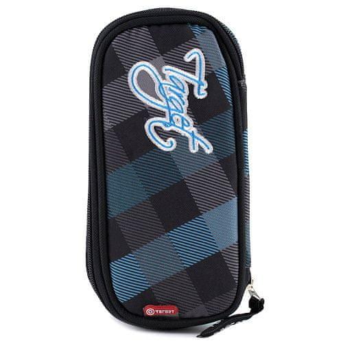 Target Docelowy piórnik szkolny, niebiesko-czarne kostki