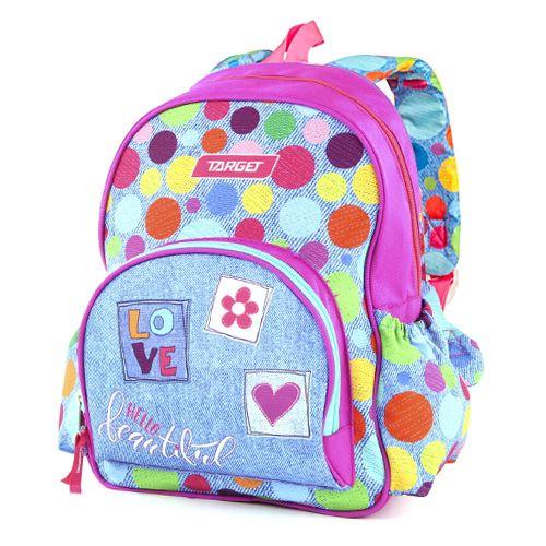 Target Batůžek , Barvné puntíky, růžovo-modrý