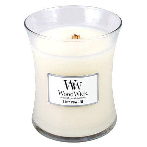 Woodwick Svíčka oválná váza WoodWick, Dětský pudr, 275 g