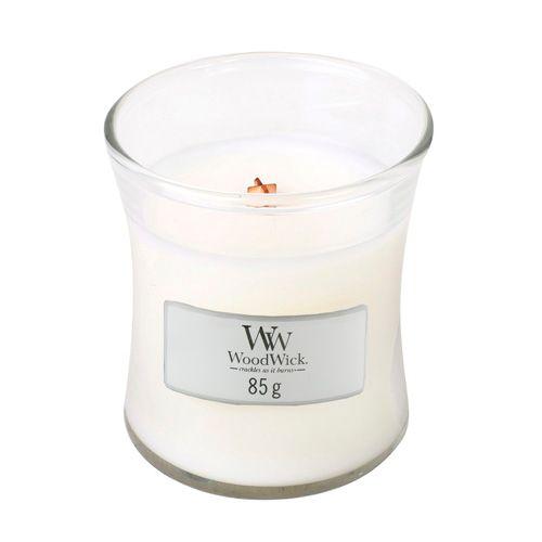 Woodwick Svíčka oválná váza WoodWick, Bílý čaj a jasmín, 85 g