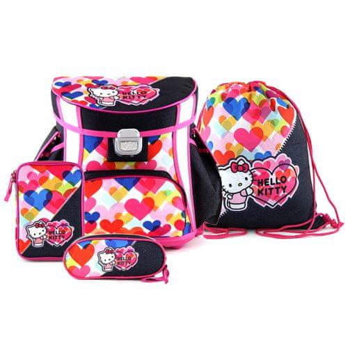 Hello Kitty Školní set Target, , barevná srdce, barva modrá
