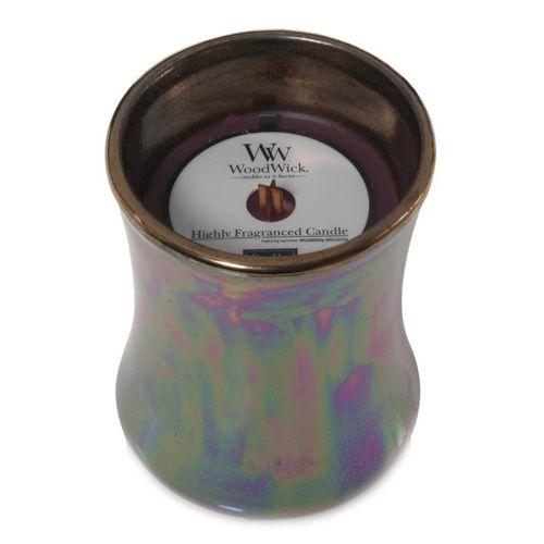 Woodwick Świecznik ceramiczny owalny wazon , Ciemny mak, 133,2 g