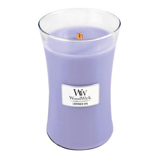 Woodwick Svíčka oválná váza WoodWick, Levandulová lázeň, 609.5 g