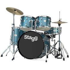 "Stagg Sada bicích , 22"", modrá perleť"