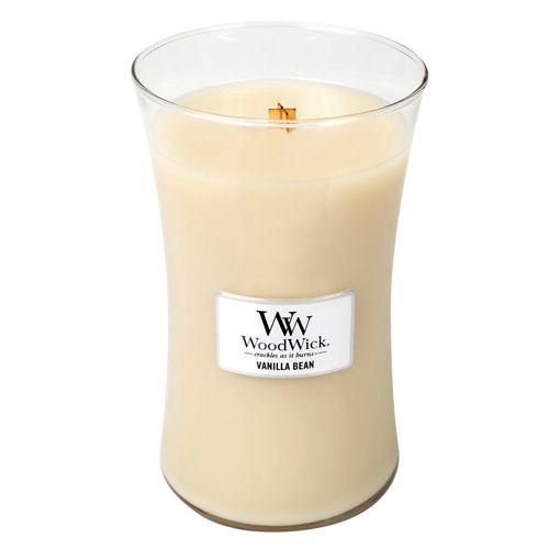 Woodwick Svíčka oválná váza WoodWick, Vanilka, 609.5 g