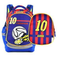 Target Ciljni nahrbtnik šole, Nogomet, rdeče-modri