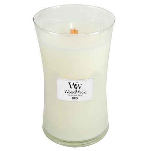 Woodwick Svíčka oválná váza WoodWick, Čisté prádlo, 609.5 g