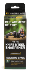 Work Sharp WSSA0002703 WSKTS Replacement Belt Kit - Qty 6 COARSE - P80 grit