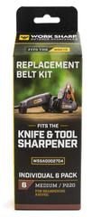 Work Sharp WSSA0002704 WSKTS Replacement Belt Kit - Qty 6 MEDIUM - P220 grit