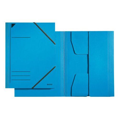 LEITZ Kartónové dosky , A4, s gumičkami, modré