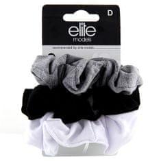 Elite Models Hajgumik textil 3 db , 3 db, három szín, átmérő 7 cm