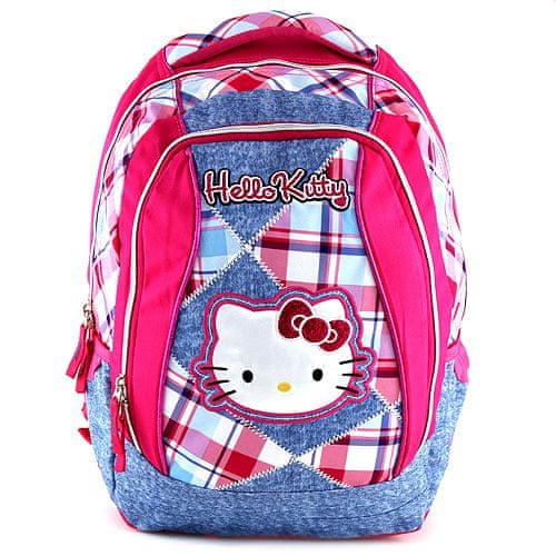 Hello Kitty Školní batoh , jeans, motiv kostky