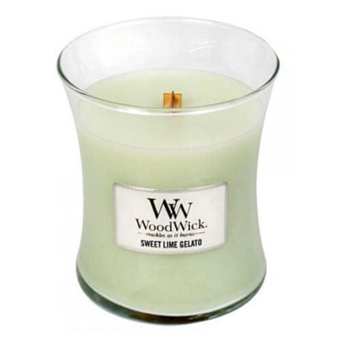 Woodwick Svíčka oválná váza WoodWick, Sladká zmrzlina, 275 g