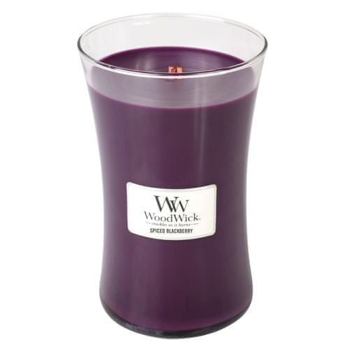 Woodwick Svíčka oválná váza WoodWick, Pikantní ostružina, 609.5 g