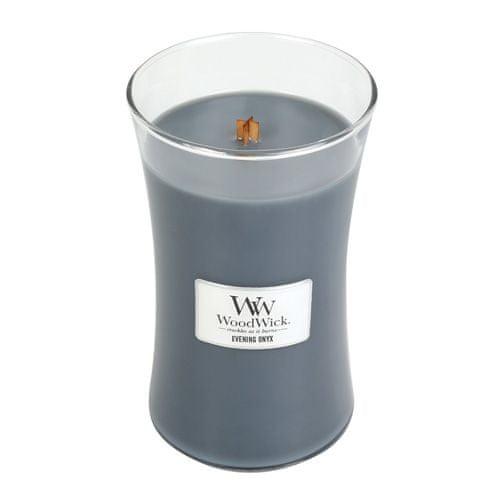Woodwick Svíčka oválná váza WoodWick, Večerní onyx, 609.5 g