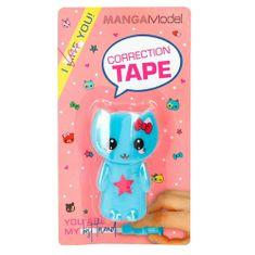 Top Model Korekčná páska Manga Model, Modrá mačička