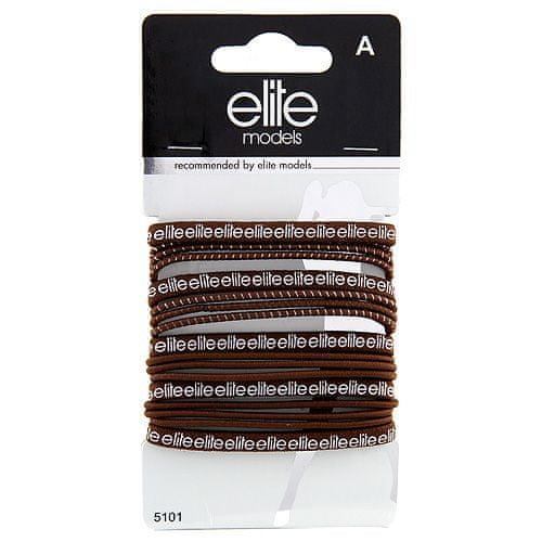 Elite Models Gumičky do vlasů 17 ks ASST, 17ks, hnědé, průměr 7cm