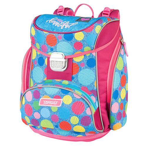 Target Školní aktovka , Barvné puntíky, růžovo-modrá