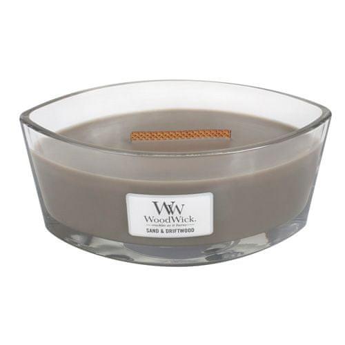 Woodwick Svíčka dekorativní váza WoodWick, Písek a naplavené dříví, 453.6 g