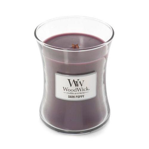 Woodwick Svíčka oválná váza WoodWick, Tmavý mák, 275 g
