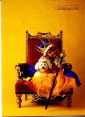Anne Geddes Üdvözlőlap kis, királynő a karosszéken