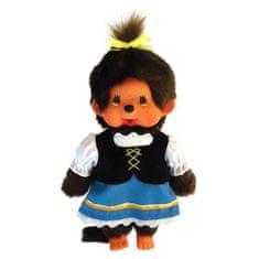 Monchhichi Plyš , Dievča, bavorský kroj, 20 cm