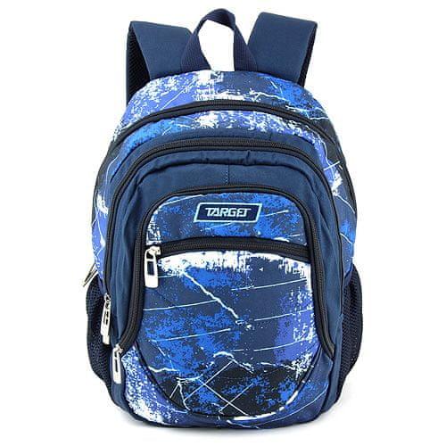 Target Docelowy plecak szkolny, Niebieski z wzorem