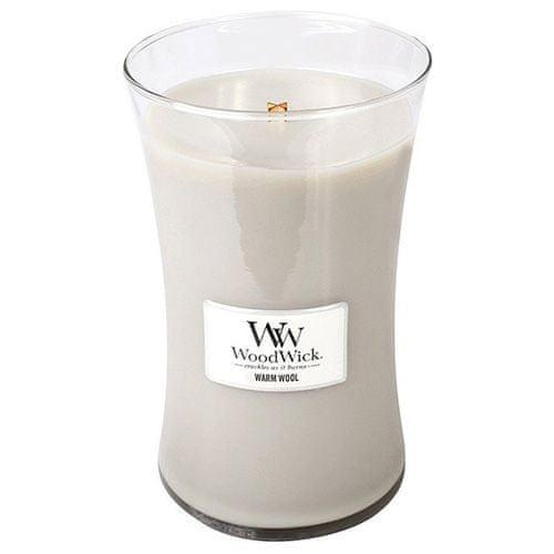 Woodwick Svíčka oválná váza WoodWick, Hřejivá vlna, 609.5 g