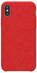 BASEUS Original Series zaščitni ovitek Alcantara za iPhone XS Max, rdeč (WIAPIPH65-YP09)