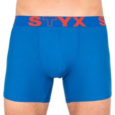 Styx Pánské boxerky long sportovní guma modré (U967) - velikost XXL