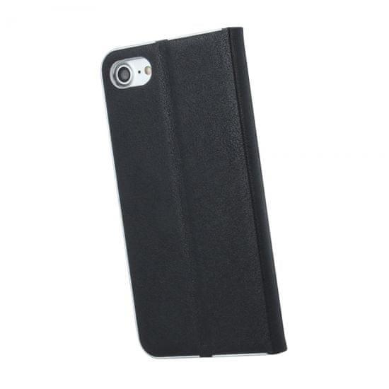 Havana Premium preklopna torbica za Samsung Galaxy A50 A505, črna s srebrnim robom